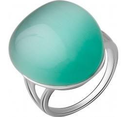 Серебряное кольцо SilverBreeze с кошачим глазом (2054757) 18 размер