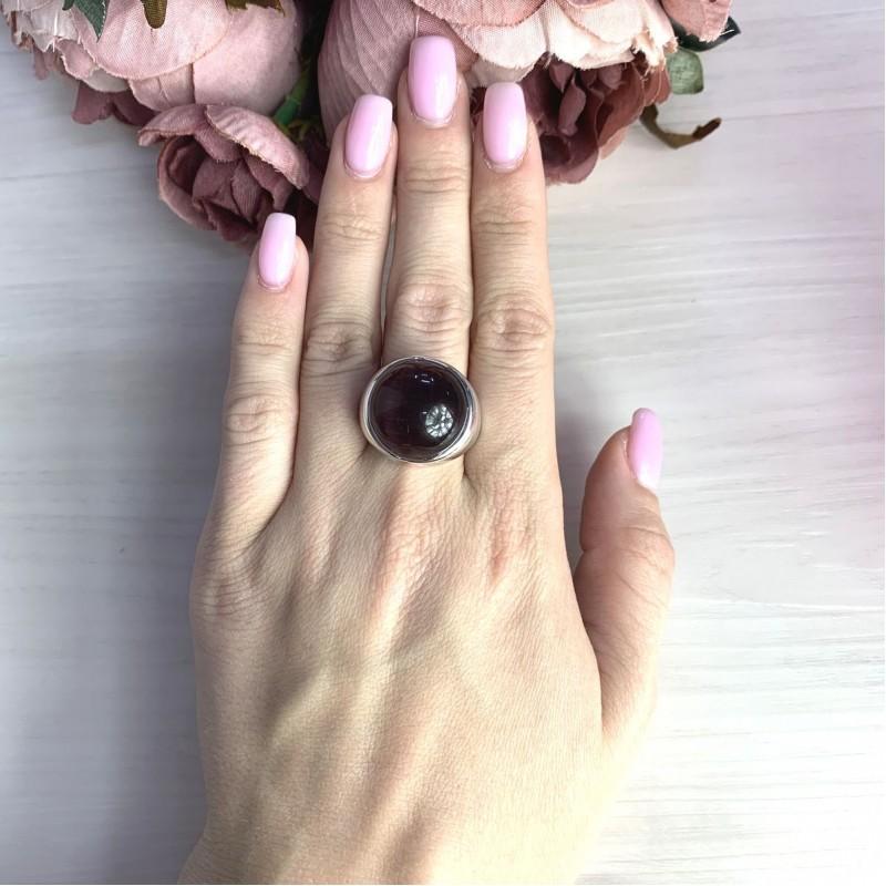 Серебряное кольцо SilverBreeze с кошачим глазом (2054726) 17 размер