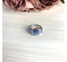 Серебряное кольцо SilverBreeze с кошачим глазом (2054498) 17 размер