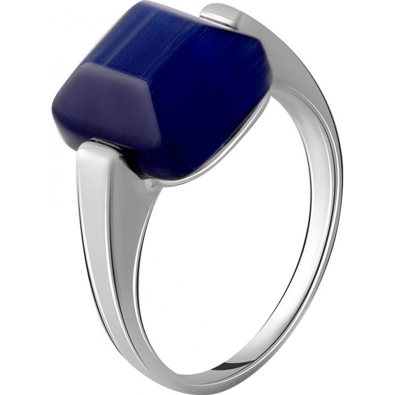 Серебряное кольцо SilverBreeze с кошачим глазом (2054436) 16.5 размер