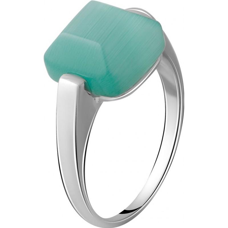 Серебряное кольцо SilverBreeze с кошачим глазом (2054412) 17.5 размер