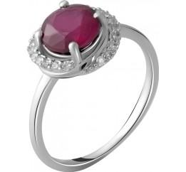 Серебряное кольцо SilverBreeze с натуральным рубином 2.158ct (2054023) 18 размер