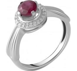 Серебряное кольцо SilverBreeze с натуральным рубином (2054009) 17 размер
