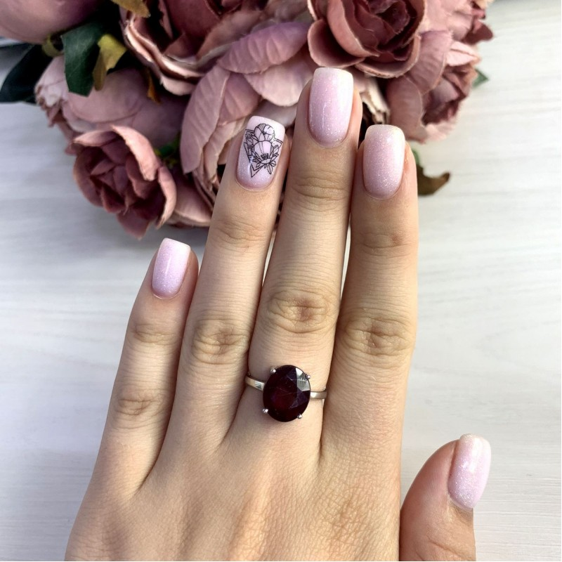 Серебряное кольцо SilverBreeze с натуральным рубином 7.125ct (2053989) 16.5 размер