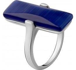 Серебряное кольцо SilverBreeze с кошачим глазом (2053965) 17 размер