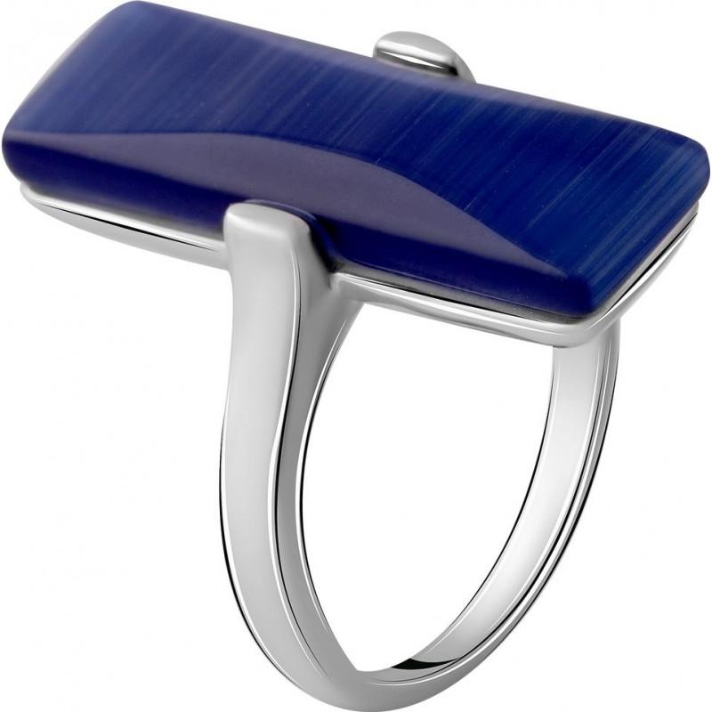 Серебряное кольцо SilverBreeze с кошачим глазом (2053965) 17.5 размер