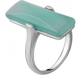 Серебряное кольцо SilverBreeze с кошачим глазом (2053941) 17 размер