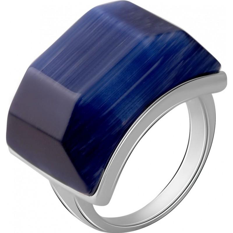 Серебряное кольцо SilverBreeze с кошачим глазом (2053903) 17.5 размер