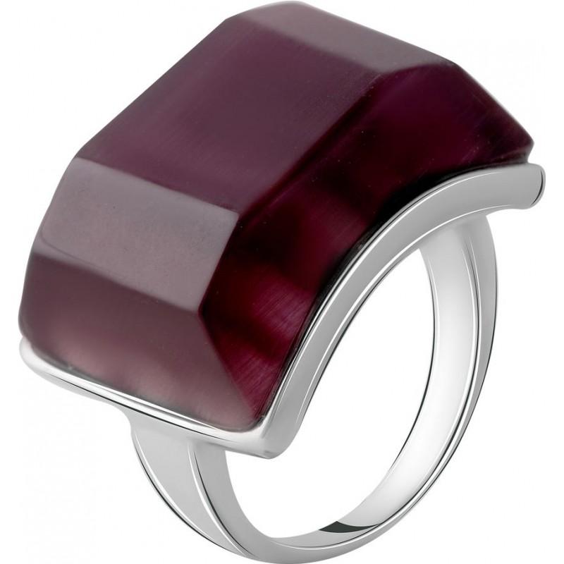 Серебряное кольцо SilverBreeze с кошачим глазом (2053880) 17.5 размер