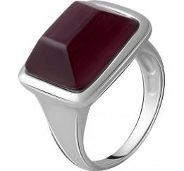 Серебряное кольцо SilverBreeze с кошачим глазом (2053842) 18 размер