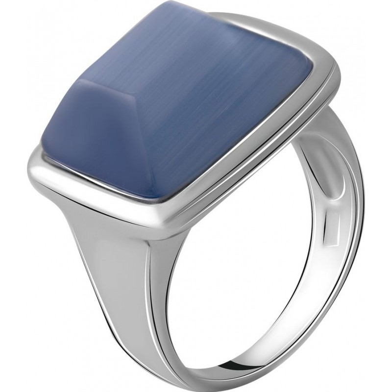 Серебряное кольцо SilverBreeze с кошачим глазом (2053828) 17 размер