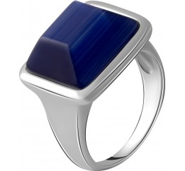 Серебряное кольцо SilverBreeze с кошачим глазом (2053781) 17 размер