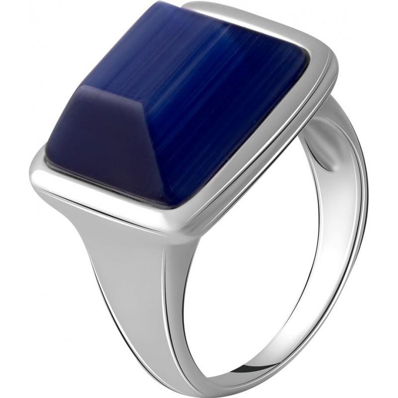 Серебряное кольцо SilverBreeze с кошачим глазом (2053781) 18 размер
