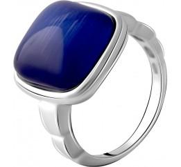 Серебряное кольцо SilverBreeze с кошачим глазом (2053743) 18 размер