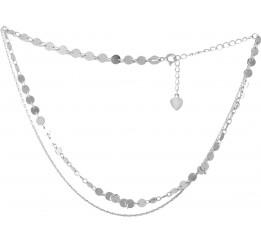 Серебряное колье SilverBreeze без камней (2052951) 350400 размер