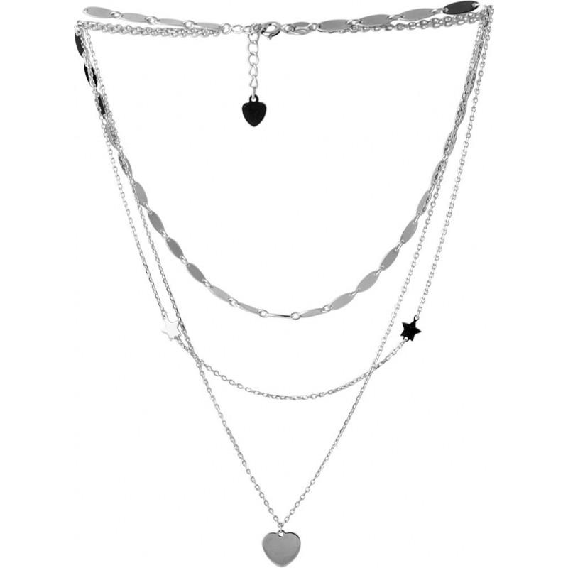 Серебряное колье SilverBreeze без камней (2052876) 500 размер