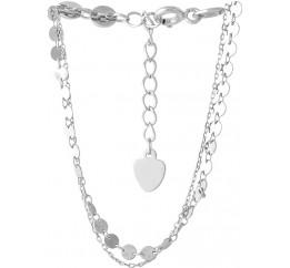 Серебряный браслет на ногу SilverBreeze без камней (2052685) 2326 размер