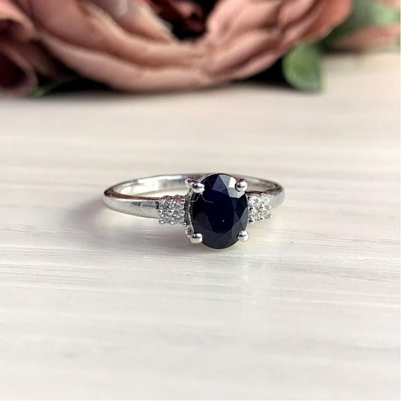 Серебряное кольцо SilverBreeze с натуральным сапфиром 1.708ct (2051909) 17 размер