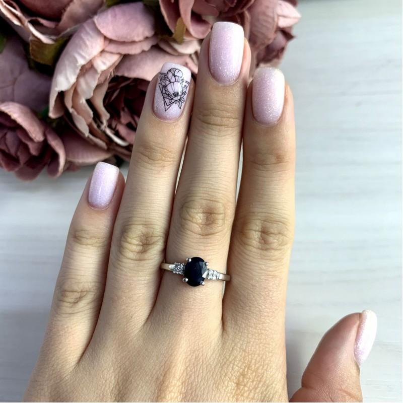 Серебряное кольцо SilverBreeze с натуральным сапфиром 1.708ct (2051909) 18 размер