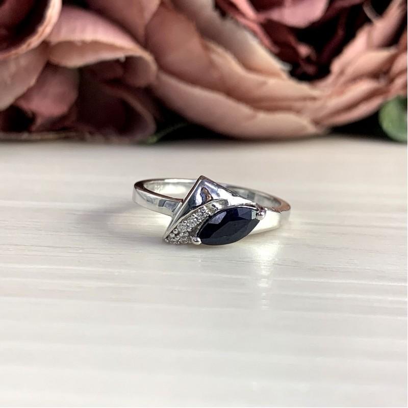 Серебряное кольцо SilverBreeze с натуральным сапфиром 0.63ct (2051886) 18.5 размер