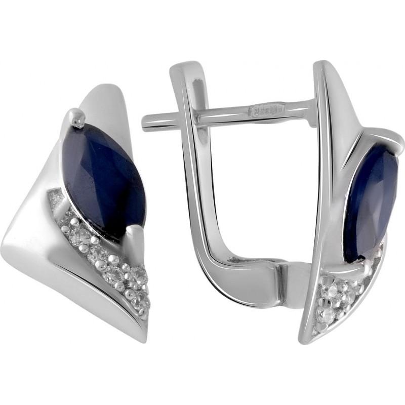 Серебряное кольцо SilverBreeze с натуральным сапфиром 0.63ct (2051886) 17 размер