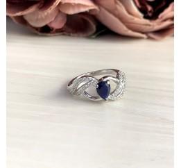Серебряное кольцо SilverBreeze с натуральным сапфиром 0.74ct (2051824) 16.5 размер