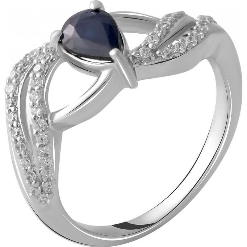 Серебряное кольцо SilverBreeze с натуральным сапфиром 0.74ct (2051824) 17 размер