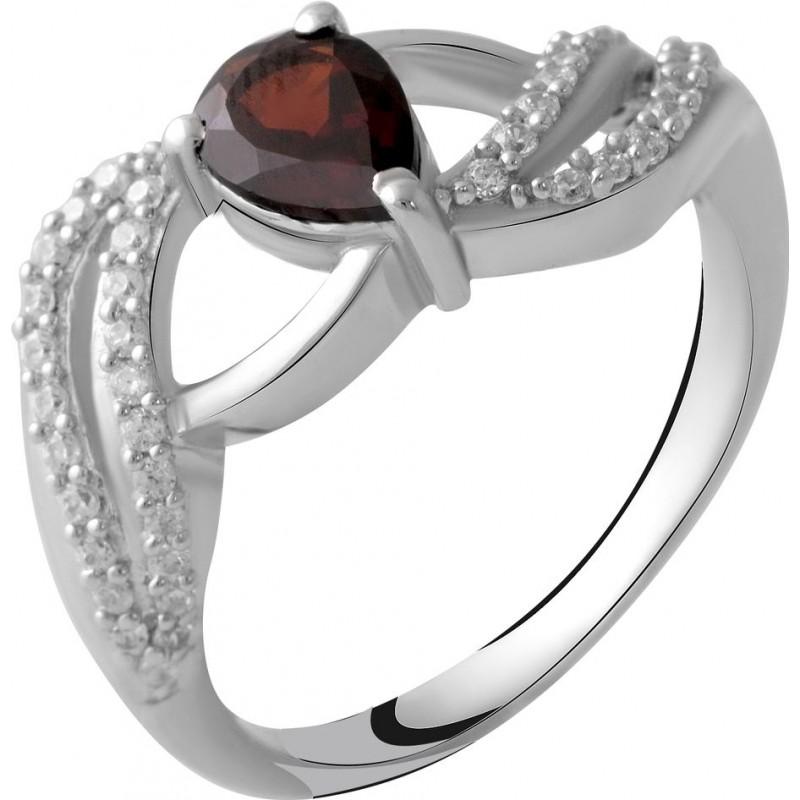 Серебряное кольцо SilverBreeze с натуральным гранатом 0.83ct (2051671) 17 размер