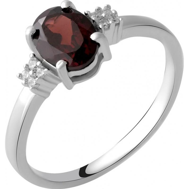 Серебряное кольцо SilverBreeze с натуральным гранатом 1.45ct (2051664) 18.5 размер