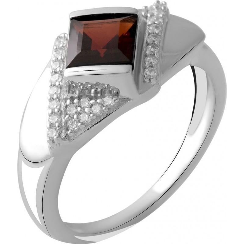 Серебряное кольцо SilverBreeze с натуральным гранатом 1.29ct (2051602) 17 размер