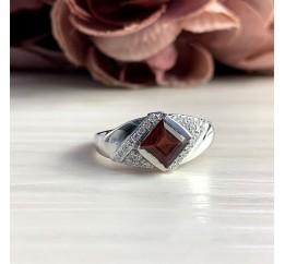 Серебряное кольцо SilverBreeze с натуральным гранатом 1.29ct (2051602) 18 размер