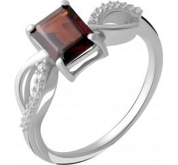 Серебряное кольцо SilverBreeze с натуральным гранатом 1.82ct (2051596) 18.5 размер