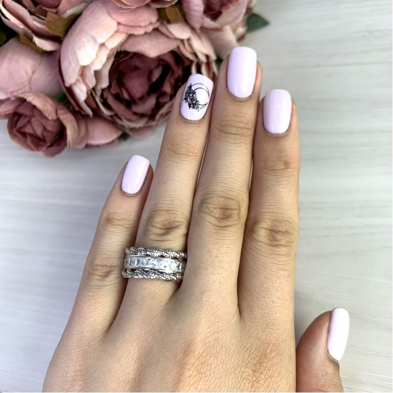 Серебряное кольцо SilverBreeze с  (2051268) 18 размер