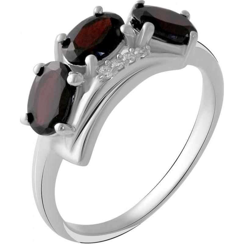 Серебряное кольцо SilverBreeze с натуральным гранатом 1.53ct (2050544) 18.5 размер