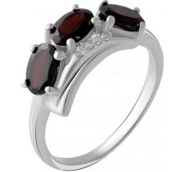 Серебряное кольцо SilverBreeze с натуральным гранатом 1.53ct (2050544) 18 размер