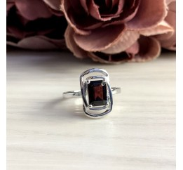 Серебряное кольцо SilverBreeze с натуральным гранатом 1.91ct (2050513) 18.5 размер