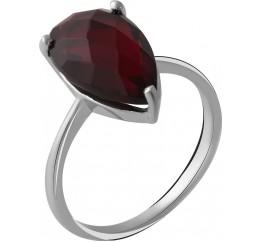 Серебряное кольцо SilverBreeze с натуральным гранатом 4.39ct (2050506) 17 размер