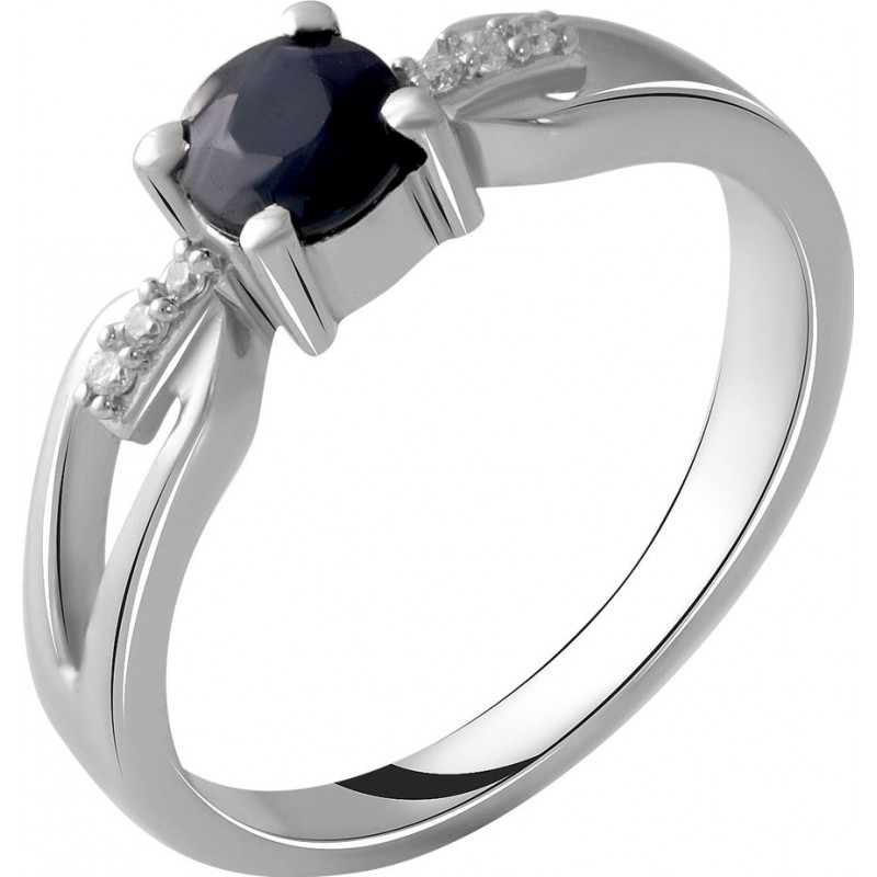 Серебряное кольцо SilverBreeze с натуральным сапфиром 0.68ct (2050407) 18 размер