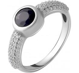 Серебряное кольцо SilverBreeze с натуральным сапфиром 1.11ct (2050339) 16.5 размер