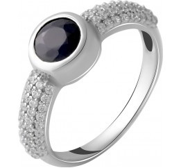 Серебряное кольцо SilverBreeze с натуральным сапфиром 1.11ct (2050339) 17 размер