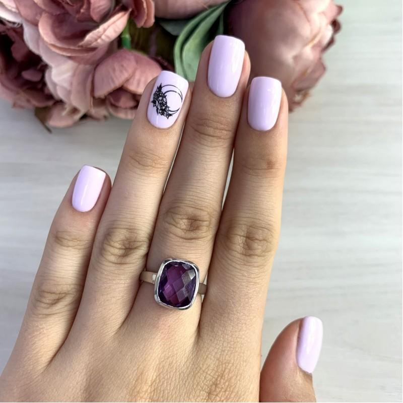 Серебряное кольцо SilverBreeze с олександритом 7ct (2050292) 18.5 размер