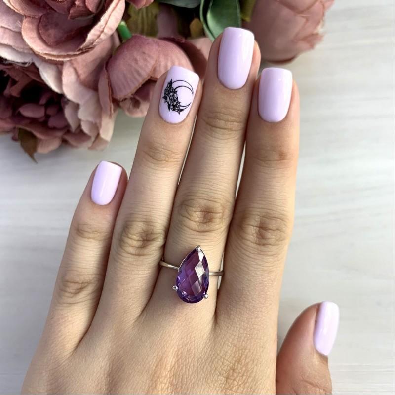 Серебряное кольцо SilverBreeze с олександритом 5.94ct (2050179) 18 размер
