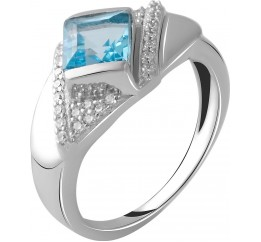 Серебряное кольцо SilverBreeze с натуральным топазом 1.48ct (2049845) 17.5 размер