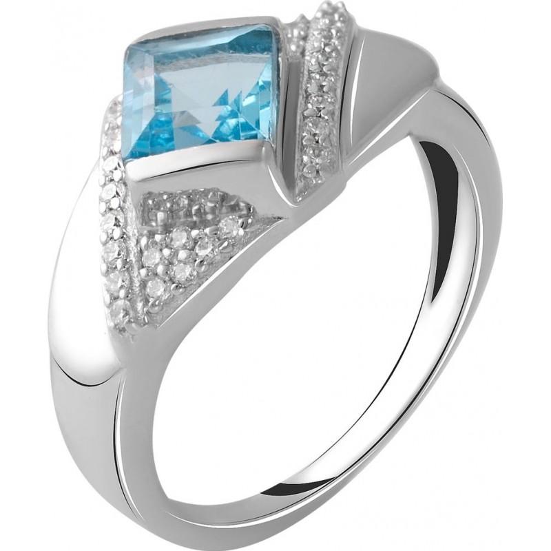 Серебряное кольцо SilverBreeze с натуральным топазом 1.48ct (2049845) 18 размер