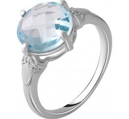 Серебряное кольцо SilverBreeze с натуральным топазом 4.5ct (2049760) 17.5 размер