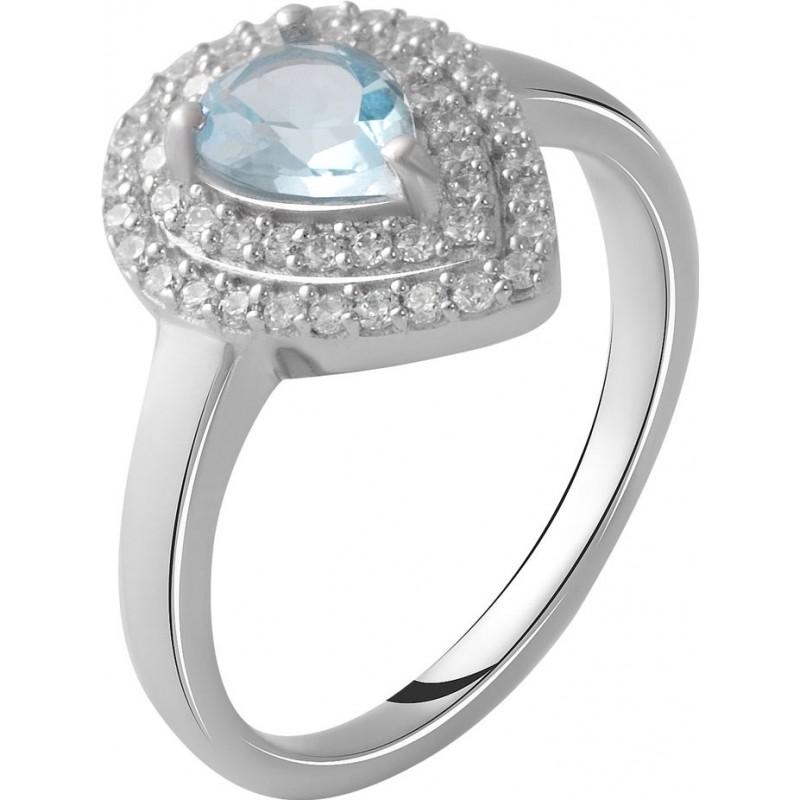 Серебряное кольцо SilverBreeze с натуральным топазом 0.86ct (2049708) 17 размер