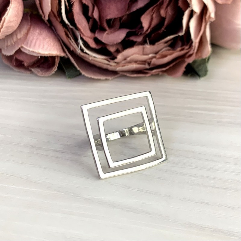 Серебряное кольцо SilverBreeze без камней (2049593) 16 размер