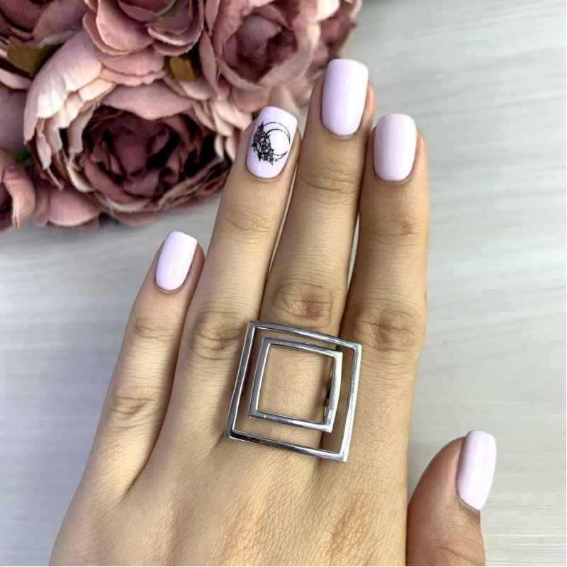 Серебряное кольцо SilverBreeze без камней (2049593) 17.5 размер