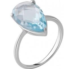 Серебряное кольцо SilverBreeze с натуральным топазом 5.1ct (2049449) 18 размер