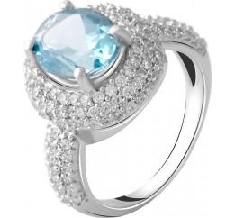 Серебряное кольцо SilverBreeze с натуральным топазом 3.11ct (2049401) 17 размер